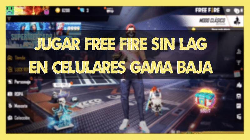 como jugar free fire en gama baja