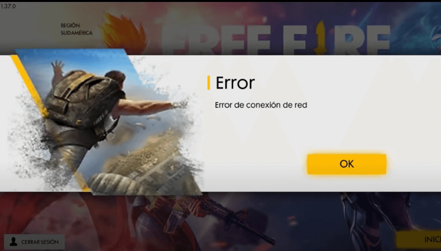 solucion error de conexión de red