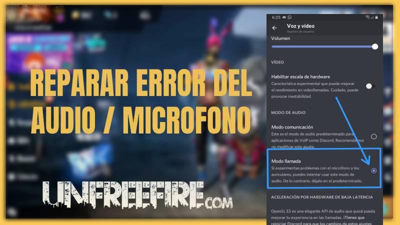 error de microfono free fire solucion