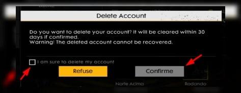 como eliminar la cuenta de Free Fire emulador