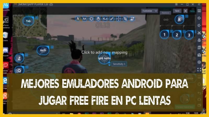 Mejores Emuladores para JUGAR Free Fire en un PC lentas gama baja